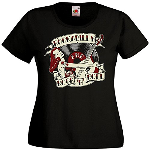 LIVE FAST SHOP T-Shirt Femme Rockabilly and Rock'n'Roll (L)