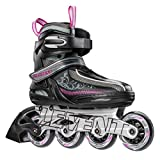 5th Element Lynx LX Womens Recreational Inline Skates, Black and Pink - 6.0/Black-Violet