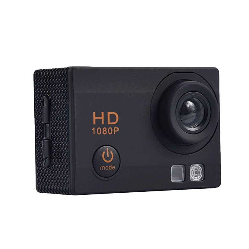 Knightly Video Camcorder HD 1080P Handheld Digital Camera Digital Zoom Waterproof Dual Screen WiFi HD 1080P Sports Action Camera DVR Cam Camcorder Super Lightweight Small in Size (Black)