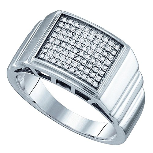 Jewels By Lux Herren Sterling Silber Diamantring 9