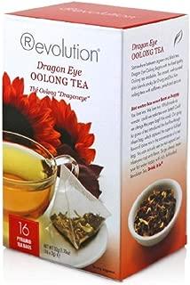 Revolution Tea - Dragon Eye Oolong Tea | Premium Full Leaf Infuser Stringless Teabags (16 Bags Each - 6 Pack)