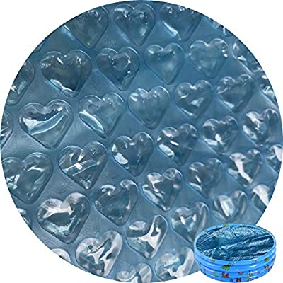 Jashem Solar Pool Cover 10ft Diameter Round Hot Tub Bubble Cover Floating Spa Blanket for In-Ground and Above-Ground Round Swimming Pools