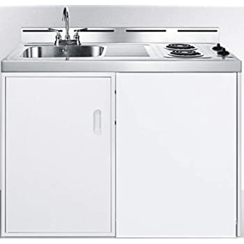 Amazon Com Avanti Ck3016 30 Complete Compact Kitchen With 2 2 Cu Ft All Refrigerator In White Appliances