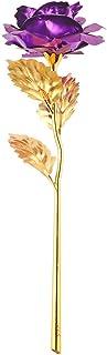 OurLeeme Fiore Romantico in Oro Rosa 24K Regalo di Giorno di San Valentino per Placcato Lover Girl Friend Viola