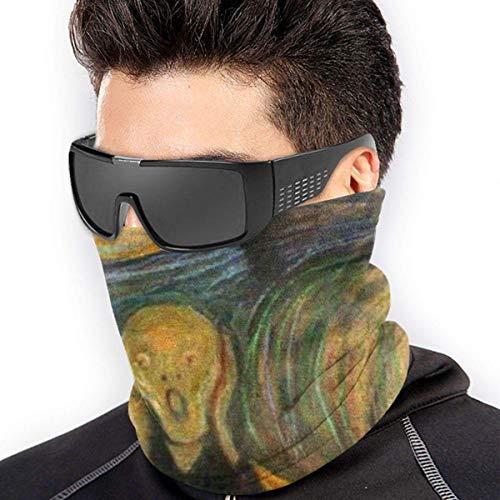 Calentador de cuello The Scream By Edward Munch Neck Gaiter Tube Bufanda facial Calentador de oidos Mascara facial Diadema y mascara