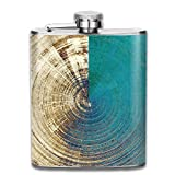 Hoklcvd Old Texture Or Antique Background with Different Color Patterns Yellow Beige Brown Blue 304 Stainless Steel Flask 7oz