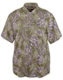 Tommy Bahama Canyon Leaves Silk Blend Camp Shirt (Color: Tea Leaf, Size XL)