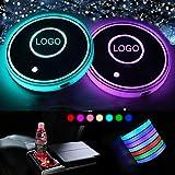 LED Resistente Impermeable Posavasos, Posavasos LED para Coche con Almohadilla de Copa luminiscente de 7 Colores, Accesorios de Posavasos Decoración Interior Ambiente Luz (Ben- z)