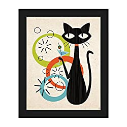 Martini Cat with Astrobursts & Green, Orange & Blue Bubbles
