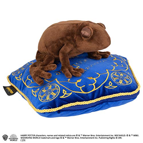 The Noble Collection - Peluche y Almohada de Rana de Chocolate