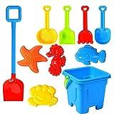 SSLLH Strand Sandspielzeug Sandspielset-Spielset für Kinder Sandkastenspielzeug den Enthält Wasserrad Strandbuggy Eimer Gießkanne Sandburg Baukasten und Formen für Jungen Mädchen