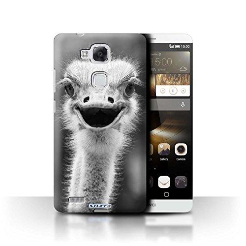 Hülle Für Huawei Ascend Mate7 Zoo-Tiere Strauß/Emu Design Transparent Ultra Dünn Klar Hart Schutz Handyhülle Case