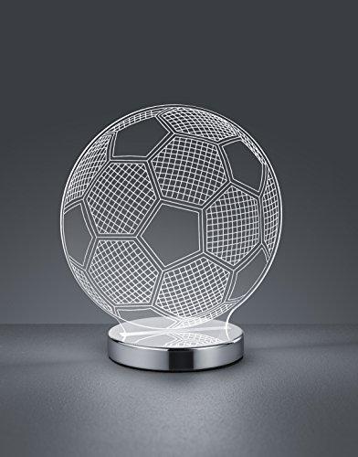 Reality Ball Lampada da Tavolo, LED, Pallone con Variazione Luce da Cala a Fredda Integriert, 7 W, Cromo, 12 x 20 x 22 cm