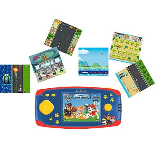 Lexibook Patrulla Canina, consola de juego portátil. 150 juegos, LCD, batería, rojo/azul, JL2365PA
