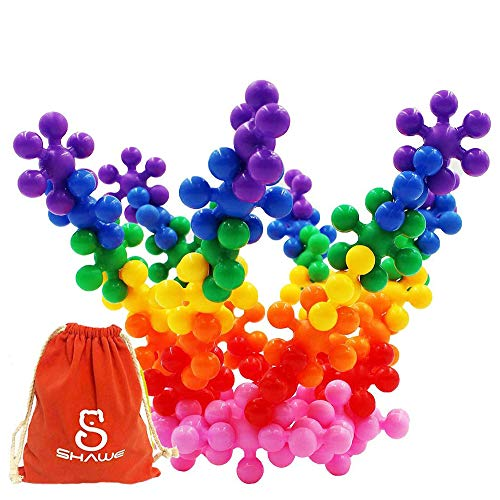 Shawe Building Blocks Kids Educational Toys STEM Toys Building Discs Sets Interlocking Solid Plastic for Preschool Kids Boys and Girls, Safe Material for Kids - Package with Storage Bag