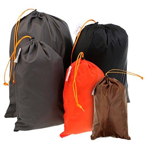 5 Teilig Packbeutel Set, Reisetaschen Reise, Packsack Tunnelzug Organizer Beutel für Koffer Rucksack Reisetasche