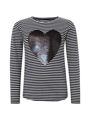 TOM TAILOR Kids Mädchen Striped T-Shirt, Blau (Navy Blazer Blue 3105), 128 (Herstellergröße: 128/134)