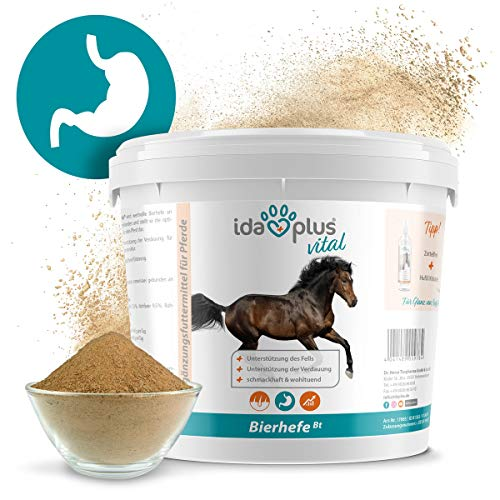 Ida Plus - Bierhefe Bt - 6kg - Futterergänzung für Pferde & Ponys - für glänzendes Fell & kräftige Haut - unterstützt Verdauung & Darmflora - reich an B-Vitaminen, Mineralien & Spurenelemente