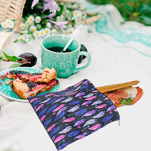 Fancylande Herbruikbare levensmiddelen-opbergtas voor snackzakken, 3 stuks, sandwichzakken, waterdicht, voor brood, reizen, werk, camping, thuis