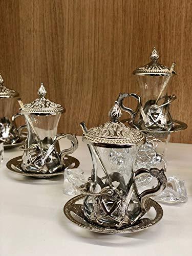 Cayseti Teeservice Osmanisches Design | Teeset für 6 Personen | Oriental Türkisches Tee Set