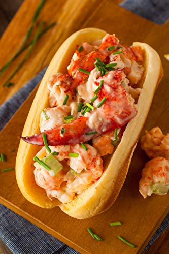 Maine Lobster Roll Kit for 12 - Includes 2.5 lbs of Fresh cooked Maine Lobster Meat, 12 New England style Rolls, Hellmann
