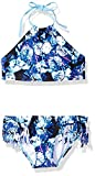 Kanu Surf Girls' Big Mahina Beach Sport Halter Bikini 2-Piece Swimsuit, Okana Blue, 10