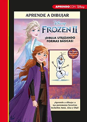 Aprende a dibujar Frozen II (Crea, juega y aprende con Disney): ¡Aprende a dibujar a tus personajes favoritos, incluidos Anna, Elsa y Olaf!