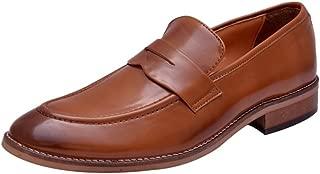 HiREL'S Men's Tan Formal Shoes-6 UK/India (39 EU) (hirel970)