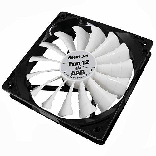 AABCOOLING Silent Jet Fan 12 - Leise und Efizient 120mm Gehäuselüfter mit 4 Anti-Vibration-Pads - CPU Lüfter, Prozessor Kühler, PC Ventilator, Kühlung 12,9 dB(A)
