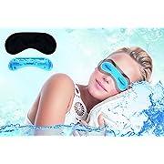 daydream Schlafmaske Frauen & Herren inkl. gratis Kühlkissen (= Kühlmaske) - Testsieger - Schlafbrille - Augenmaske, schwarz (B-7000-B)