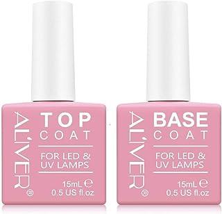 Top coat y Base Coat Semipermanente Esmalte Semipermanente UV LED Kit 2x15ML