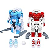 COSTWAY Robot de Fútbol con Control Remoto Juego Interactivo Modo Multijugador Fútbol Robot para Driblar, Disparar, Pasar Juguetes para Niños