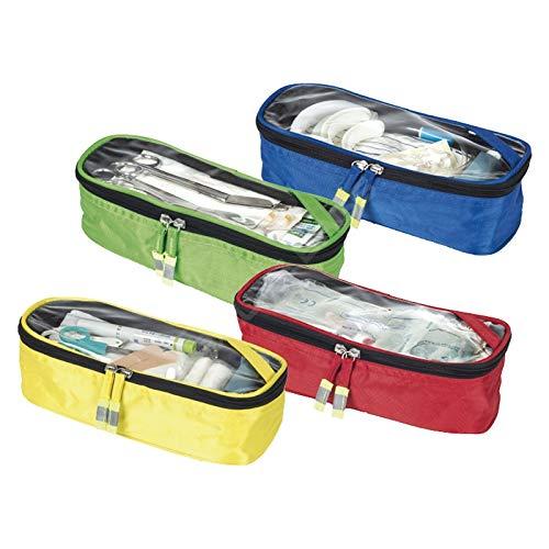 Elite Bags, Set de compartimentos de colores, Estuches de colores, 4 unidades, Azul, rojo verde y amarillo