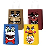 12 Fnaf Goodie Bags Party Supplies for Five Nights at Freddy's Birthday Favor Candy Goody Paper Bday Decorations