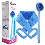 QUAL-LITE Two Sided Silicone Back Scrubber Set - Soft Scrubbing...