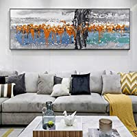 KDSMFA現代油絵ポスターとプリント壁アートキャンバス絵画リビングルームの抽象的な写真家の装飾絵画アート/ 23x47インチ(フレームなし)