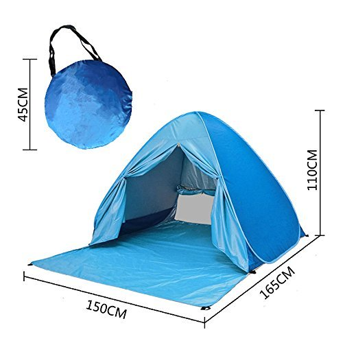 e-JoyBeach Tent, Pop Up Tent, Baby Beach Sun Shade, UV Protection Sun Shelter