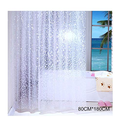 Asseny Halbtransparent Wasserfest Duschvorhang Betonpflaster Muster Schauer Vorhänge für Badezimmer - 80cmx180cm
