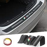 アルファロメオ147 156 166 159ジュリエッタジュリア水戸GT Stelvio車スタイリングの新しいゴム製車のリヤバンパートリムガードプレートプロテクターステッカー