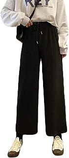 Fashring Women's Long Pant Tie Elastic Waist Loose Summer Youga Legging Pants