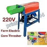 Newly 220V Farm Electric Corn Thresher Sheller Threshing Stripping Machine