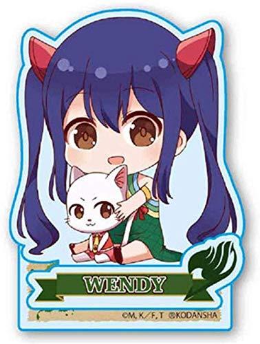 lkw-love Anime Fairy Tail Estatuilla de pie Doble Cara Acrílico Acrílico Resina Gris Fullbuster-Wendy_Marvell