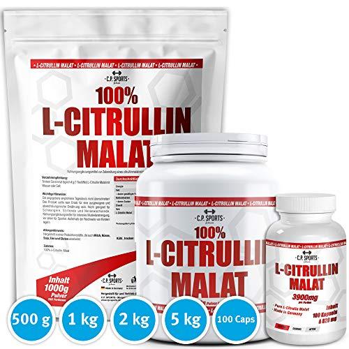 L-CITRULLIN - Malat Pulver, Powder Vegan, Hohe Reinheit, steigert Ausdauer und Leistungsfähigkeit, deutsche Qualität, 500g und 1000g (2000g)