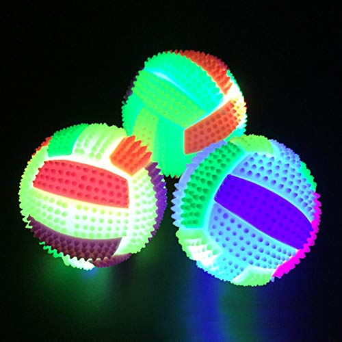 iodvfs Hundespielzeug in Fußball-Form, mit LED-Beleuchtung, lustiges Spielzeug