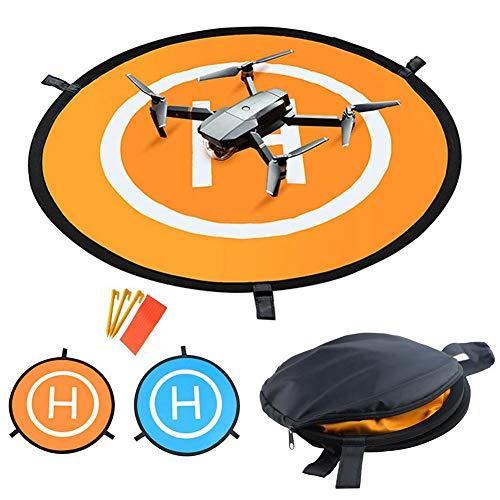 AOLVO Drohne Landepad mit Nachtlichter, 75 cm, doppelter Verwendung RC Quadcopter Helipad, kompatibel mit DJI Phantom 3/4, Mavic Pro/Mavic Air/DJI Spark, Bebop 2 und FPV Racing Drones #01