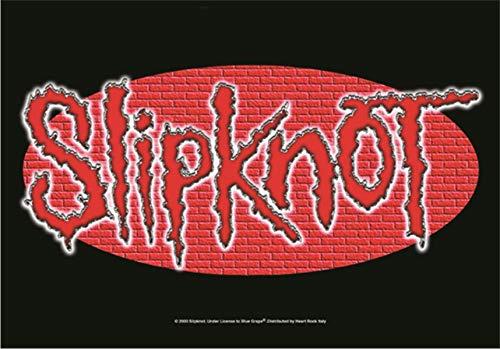 Heart Rock Flagge Original Slipknot Wall Logo, Stoff, Mehrfarbig, 110 x 75 x 0,1 cm