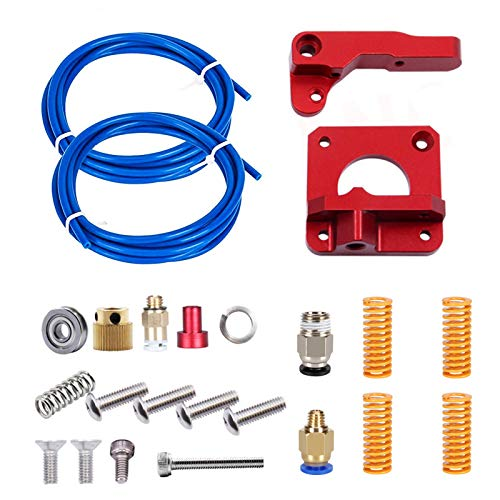 Upgrade 3D Printer Parts MK8 Extruder,Metal MK8 Bowden Extruder Feeder Drive 1.75mm Filament,Teflon Tube PTFE Tubing (1.5M),Heated Bed Leveling Die Springs for Creality Ender 3/3 Pro,Ender 5/5 Plus