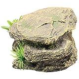 Scicalife Accesorios para Acuario-Piedra Artificial para Peceras-Hecho de Material de Resina Premium Decoración de Rocas para Peces de Tortuga Y Reptiles