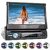 XOMAX XM-D750 Autoradio avec écran Tactile 18 cm / 7' I DVD, CD, USB, AUX I RDS I Bluetooth I Connexions pour caméra de recul, télécommande au Volant et subwoofer I 1 DIN