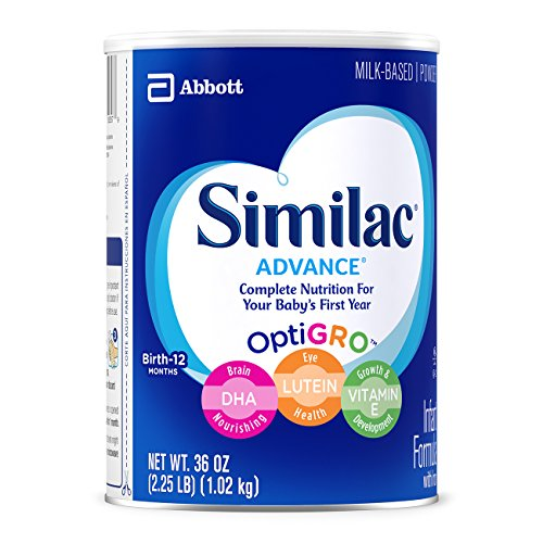 Image of Similac Advance Infant Formula with Iron, Powder, One Month Supply, 36 Ounce (Pack of 3)